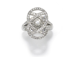 Diamond Plaque Ring