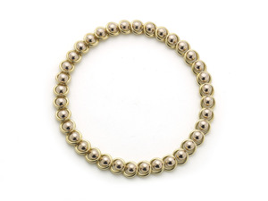Austrian 18ct Gold Ball & Circle Necklace