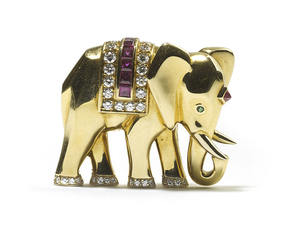 Cartier Elephant Brooch