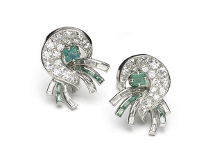 J. E. Caldwell Emerald & Diamond Earrings