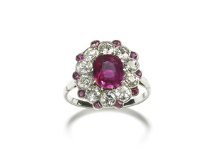 Burma Ruby & Diamond Ring