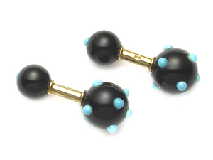 Jean Schlumberger for Tiffany & Co. Black Onyx & Turquoise Cufflinks