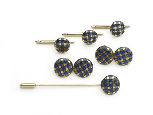 Tartan Enamel Dress-Set