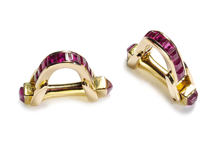Ruby Stirrup Cufflinks