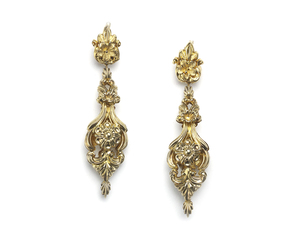 Early Victorian Gold Drop Earrings