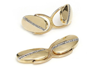 Gold Cufflinks With Diamonds