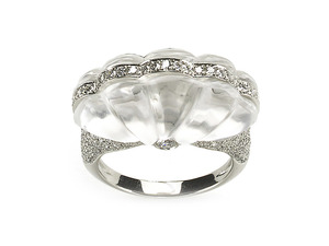 Rock Crystal & Diamond Ring