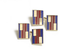 Red & Blue Enamel Cufflinks