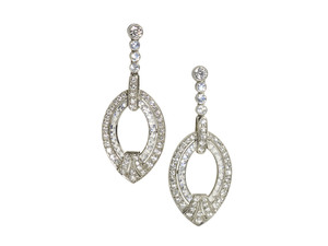 Diamond & Moonstone Earrings