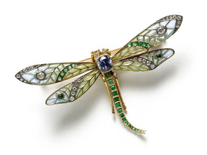 Plique à Jour Dragonfly Brooch
