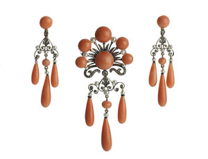 French Coral, Pearl & Diamond Suite