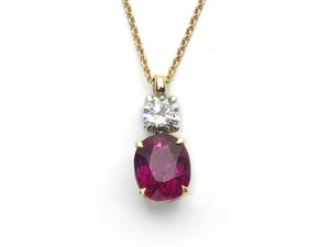 Ruby & Diamond Pendant