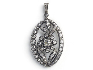 Antique Diamond Flower Pendant