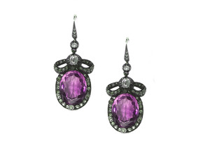 Victorian Amethyst & Diamond Earrings