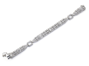 Raymond Yard Art Deco Diamond Bracelet