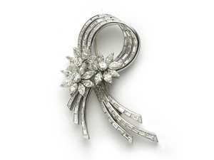 Vintage Diamond Spray Brooch