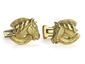 Webb Gold Horse Cufflinks