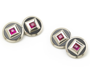 Ruby & Black Onyx Cufflinks