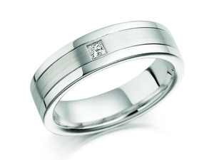 18ct White Gold Flat Wedding Ring