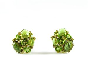TOURMALINE & PERIDOT EARRINGS