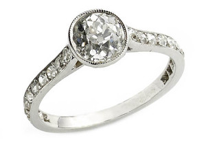 Cushion Cut Diamond Ring,1.20ct
