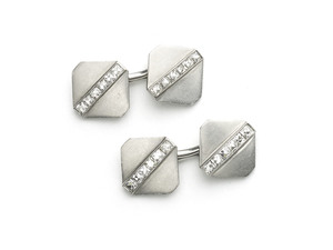 Tiffany Platinum & Diamond Cufflinks