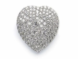Diamond Heart Brooch