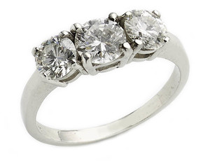 1.60ct Three Stone Diamond Ring