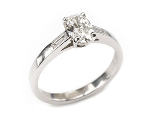 0.91ct Diamond Ring
