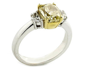 Fancy Yellow Diamond Ring, 2.01ct