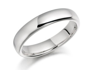 Platinum Heavy Court Wedding Ring