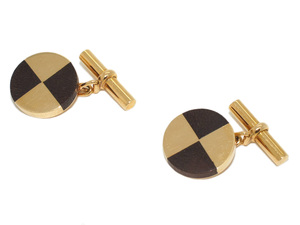 Mellerio Wood & Gold Cufflinks
