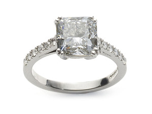 3.03ct Cushion Cut Diamond Ring