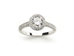 0.85ct Diamond Halo ring