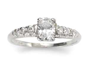 Oval Diamond Ring 0.51ct
