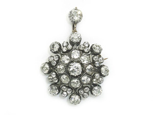 Antique Diamond Brooch-cum-Pendant