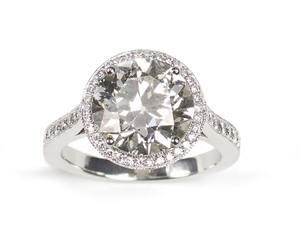 Edwardian Cut Diamond Ring, 4.36ct