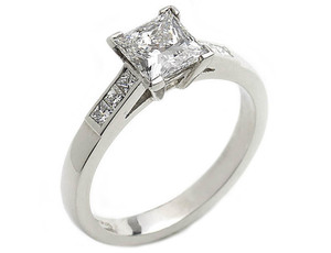 Princess Cut Diamond Ring, 1.03ct