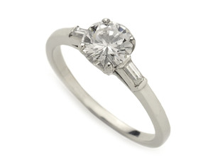 Round Brilliant Cut Diamond Ring 0.81ct