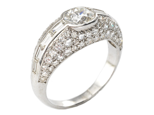 Cartier Oval-Cut Diamond Ring