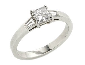 Princess Cut Diamond Ring, 0.71ct