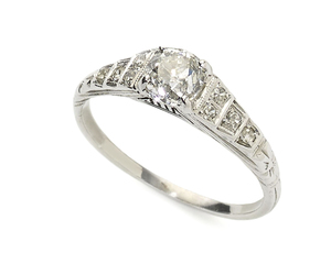 Art Deco Diamond Ring, 0.58ct