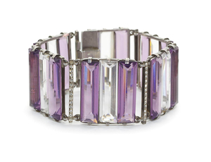 Amethyst and Rock Crystal Bracelet