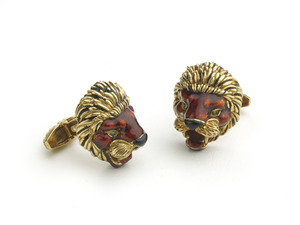 Frascarolo Lion Cufflinks, C1960