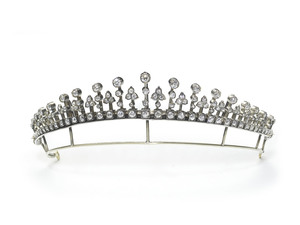Antique Diamond Tiara Necklace