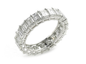 Diamond Full Eternity Ring, 5.41ct