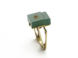 Vintage Chrysoprase and Gold Ring