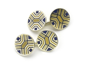 Enamel & Gold Cufflinks