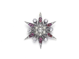 Ruby, Pearl & Diamond Star Pendant