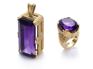 Amethyst Pendant & Ring Suite